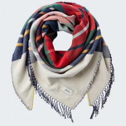 Tom Joule Red & Ecru Checked Scarf