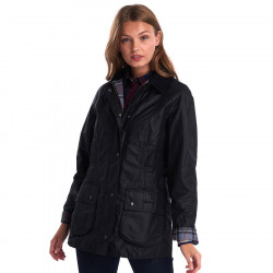 Barbour Beadnell Black Waxed Jacket