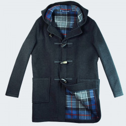 London Tradition Dark Grey Joseph Duffle-Coat
