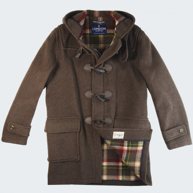 Duffle-Coat Barry Brun Foncé London Tradition