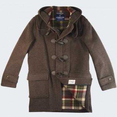 London Tradition Barry Dark Brown Duffle-Coat