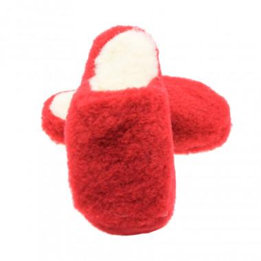 Alwero Red Wool Basic Slippers