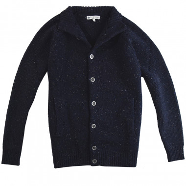 Out Of Ireland Navy Buttoned Cardigan
