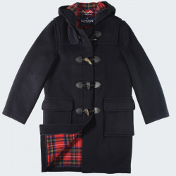 London Tradition Navy Emily Duffle-Coat