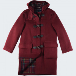London Tradition Bordeaux Emily Duffle-Coat