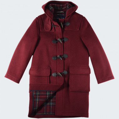 London Tradition Bordeaux Emily Duffle-Coat