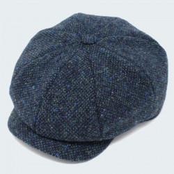 Casquette Irlandaise Tweed Bleu Hanna Hats