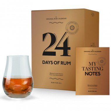 Calendrier 24 rhums 48cl 40� & 1 verre