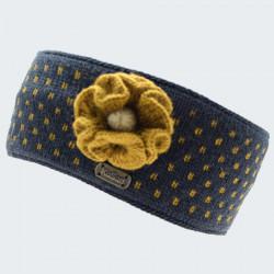 Kusan Navy and Yellow Jacquard Headband