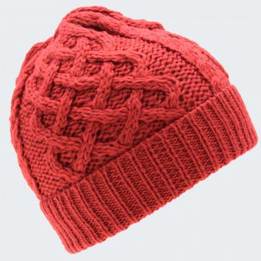 Bonnet Torsade et Tresse Rouge Inis Crafts