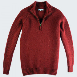Pull Col 1/2 Zip Rouge Out Of Ireland