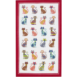 Groovy Cats Essuie-mains 48 x 74 cm