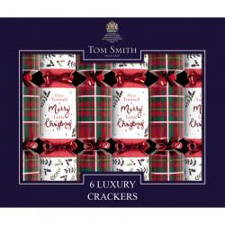Tom Smith Party Crackers Mini Tartan x6