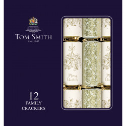 Party Crackers Cream & Gold Family x12