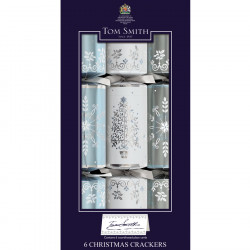 Tom Smith Silver & White Party Crackers x 6