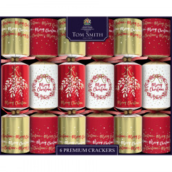 Party Crackers Rouge & Or Premium Tom Smith x 6
