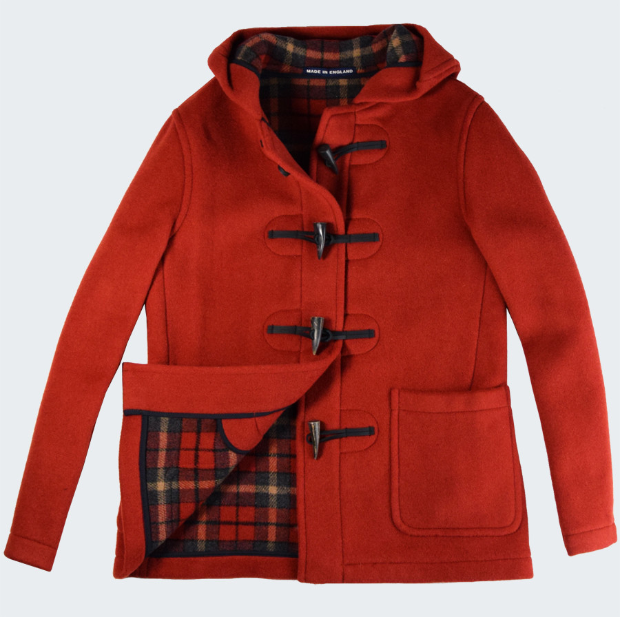 Duffle Coat Melissa Orange London Tradition