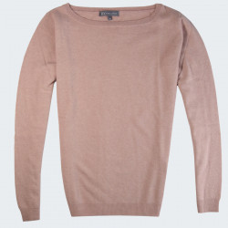 Pull Rose Col Bateau Manches Longues Best Yarn
