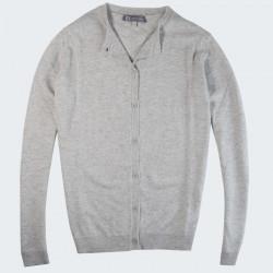 Best Yarn Grey Buttoned Cardigan