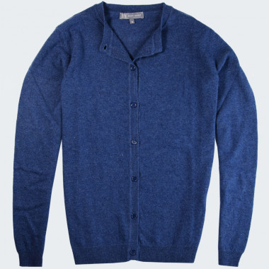 Best Yarn Blue Buttoned Cardigan