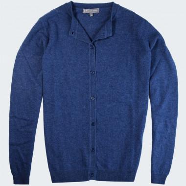 Cardigan Boutonné Bleu Best Yarn