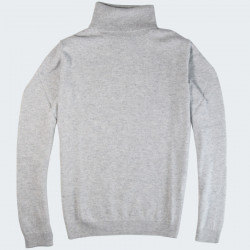 Best Yarn Grey Turtleneck Sweater