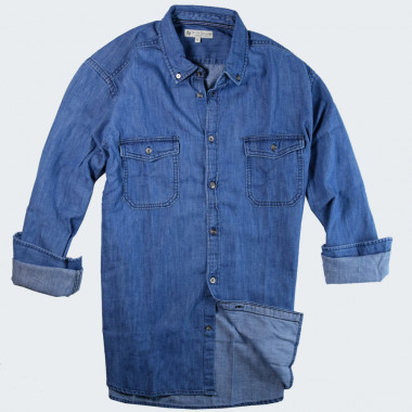 Out Of Ireland Denim Shirt 2 Pockets Flaps