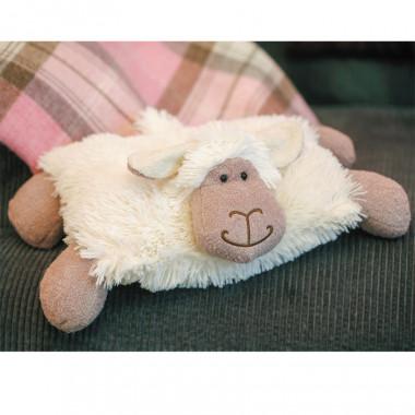 Coussin Peluche Mouton Blanc