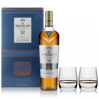 Macallan 12 ans Triple Cask 70cl 40° + 2 verres