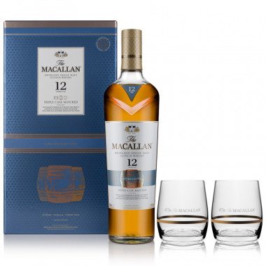 Macallan 12 Years Old Triple Cask 70cl 40° + 2 Glasses