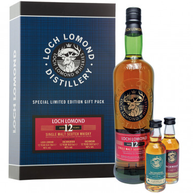 Coffret Loch Lomond 12 ans 70cl 46° + Inchmoan 5cl + Inchmurrin 5cl