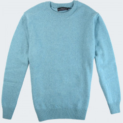Pull Lambswool Col Rond Turquoise Celtic Alliance