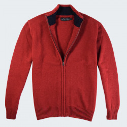 Celtic Alliance Extra Fine Wool Red Zipped Jacket