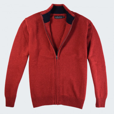 Celtic Alliance Lambswool Red Zipped Jacket