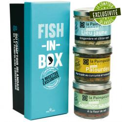 "Coffret ""Fish In Box"" La Paimpolaise Conserverie 2x80g 1x90g"