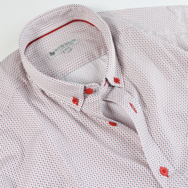 chemise Imprime Graphique Marine Rouge Out Of Ireland