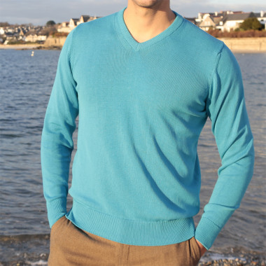 Out Of ireland Blue V-Neck Sweater