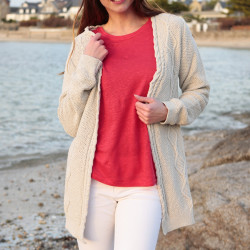 Out of Ireland Recycled Cotton Beige Cardigan