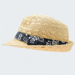 Out Of Ireland Natural Hat with a Flowery Ribbon