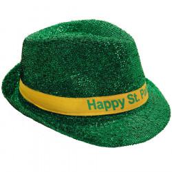 Chapeau Panama Brillant Vert St-Patrick