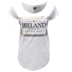 T-shirt Blanc & Doré Céad Míle Fáilte