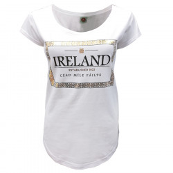 White & Gold Céad Míle Fáilte T-shirt