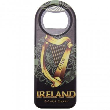 Decapsuleur magnet celtic harp ireland
