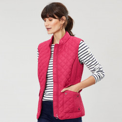 Tom Joule Pink Raspberry Quilted Gilet