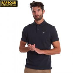Barbour Navy Tartan Piqué Polo