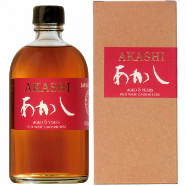 Akashi 5 Years Old Red Wine Cask 50cl 50°