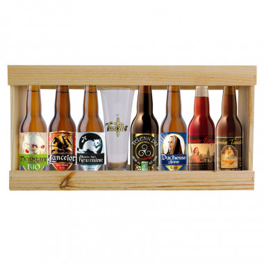 Coffret Bois Lancelot 7 Bières & 1 Verre