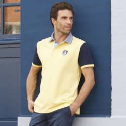 Polo Manches Courtes Jaune Black Wellis