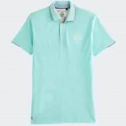 Black Wellis Mint Short Sleeve Polo Shirt
