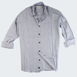 Chemise Mini Carreaux Marine Out Of Ireland